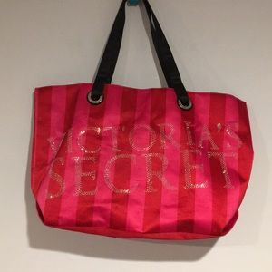Victoria Secret Pink Satin Tote